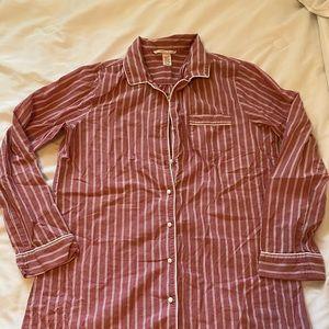 Victorias Secret Striped Nightgown/ Shirt - S